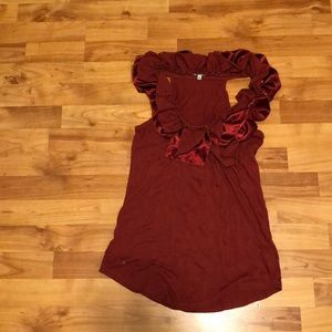Burgundy Top from Anthropologie